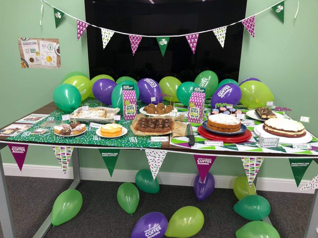 Cake sale for Macmillan Coffee Morning
